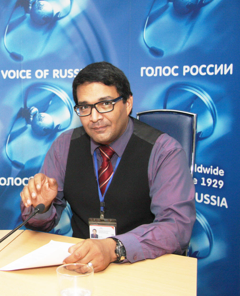 John Robles in the Voice of Russia Studio
